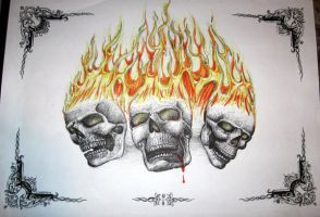 some flaming skull thing by that-car-bloke