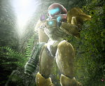 Metroid - Delighted by the harmless creatures by LemurfotArt