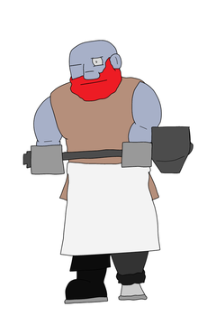 Daily Art #11: The Burly Blacksmith by MikePodgor