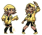 Elekid And Electabuzz Gijinka by xIce-Wolf