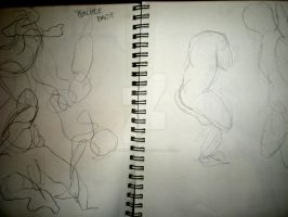 Gesture Drawings 9 by Jennawinsatart