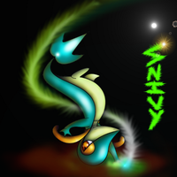 Shiny Snivy by Torterria