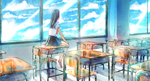 In the classroom by Yennineii