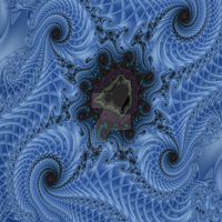 Blue Mandelbrot by Broni58