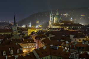 Foggy Prague at night by Impo5siblr