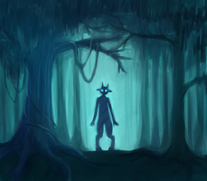 Deep blue forest of the lost soul. by Enginveit