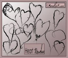 Gothic Hearts free photoshop brushes by AmeliaLune