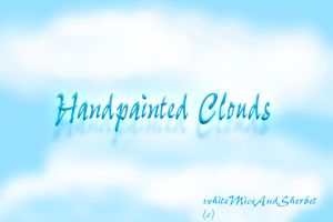 Handpainted Clouds by WhiteMiceAndSherbet