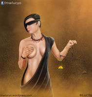Lady Justice In Black by MwLucYo