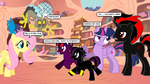 Discord And Fluttershy Visits The Shadow Family by CyrilSmith