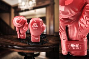 Boxing Gloves - Mockup by VectorMediaGR