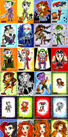 DC Super-Villains Trading Card Set - Cryptozoic by NikkiWardArt