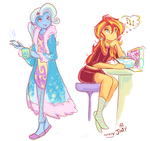 Early trix of the sun Sketches by Jowybean