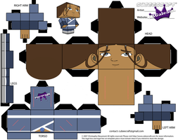Cubeecraft of Katara Avatar the Last Airbender by SKGaleana