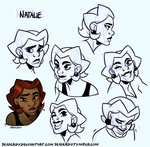 Natalie faces by SeaGerdy