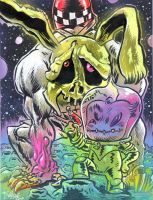 LD Monster and Cottontail by RalphNiese
