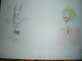 batman and the Jocker by tamisise