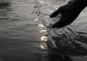hands and water by michexist
