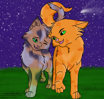 Firestar and Spottedleaf by AJT267