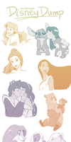 Disney Sketch Dump + Others (Sketchdump 5) by mewDoubled
