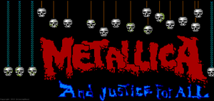 Metallica and hanging skulls by GrinningGhoul