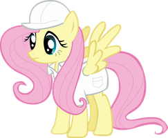 Fluttershy -Cloudsdale suit- by ShonowTH