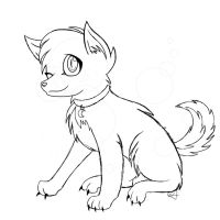 Canine lineart {OLD} by Pretzy-Artist