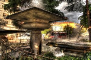 Fountains in Europe Square - HDR by yoctox