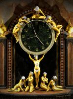 Art Nouveau Gilt Clock Figure Detail by Vanguard-Studio
