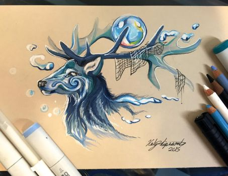 262- Stag Water Spirit by Lucky978