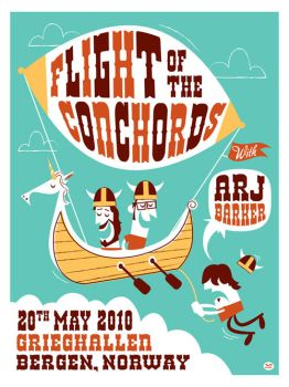 Flight of the Conchords Poster by Montygog