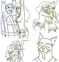 TMNT 2012 doodles 6 by malasia19845
