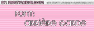 Font Arriere Garde by PrettyLadybug093