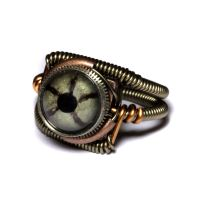 Steampunk Reptile Eye Ring 7 by CatherinetteRings