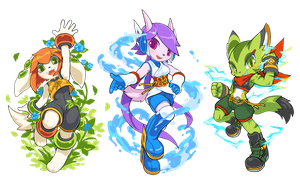 Freedom Planet 2 Girls by TysonTan