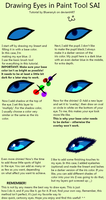 How to Draw Eyes in Paint Tool SAI by Blueranyk