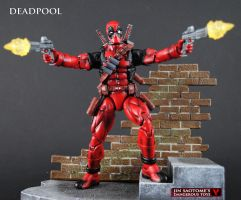 Custom Bowen style Deadpool figure by Jin-Saotome