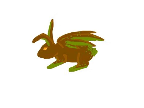Flying Chocolate Chip Mint Bunny OC by preussensunflowers