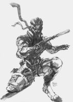 METAL GEAR SOLID - SOLID SNAKE (Fan art) by nuclear--nachos