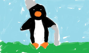 Penguin with HAT by FeedTheBirds