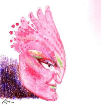 Pink Mask by kuhios