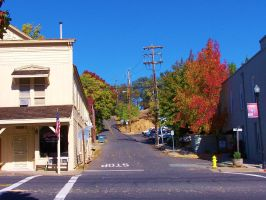 Fall colors main street by DailyB