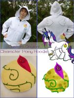 Moonglove - Custom Made My Little Pony Hoodie by Monostache