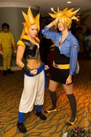 Lady Gogeta and FemTrunks! by itsthekitsunekid
