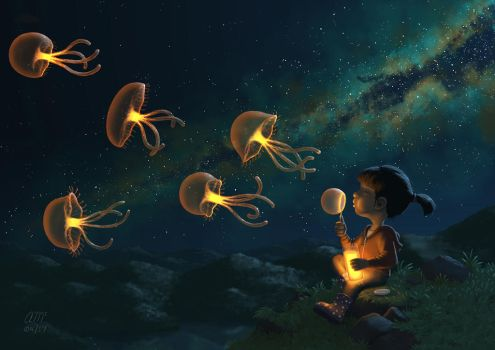 Jellies by AndrewMcIntoshArt