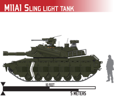 M11A1 Sling Light Tank by Afterskies