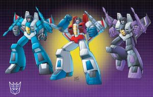 Decepticon G-1 Seeker trio by Dan-the-artguy