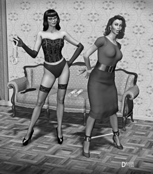 Ladies of dA - Amalia and Sonja-50s Style by Driver651