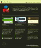 Ruby Designz Website Template by rjoshicool
