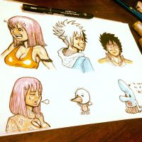 Character Design of Rave Master ^_^ by AKAScene